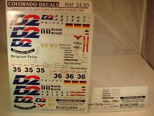 "DECALS 1/24 MERCEDES CLK LM #35 ET #36 "" D2 "" LE MANS 1998 - COLORADO  2450"