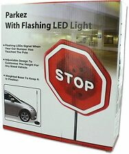 PARKEZ Flashing LED Light Parking Stop Sign For Garage 1 Pack New