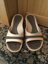 GREAT CROCS BRONZE & BROWN MULES UK SIZE 4.5 RELAXED FIT (MORE LIKE 5) WORN