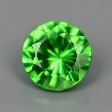 ONLY! $4.82/1pc 1.5mm Round Green NATURAL TSAVORITE GARNET,