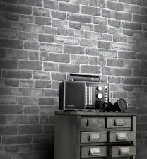 Luxury Wallpaper Rasch - Urban Faux Brick / Stone - Grey - Feature Wall - 217346