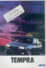 Fiat Tempra Prospekt 10/90 16 S brochure 1990 Auto PKWs Broschüre Italien Europa