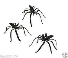 144 Halloween Party Favors Kids Pinata Filler Plastic MINI BLACK SPIDERS