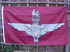 Parachute Regiment - Para Beret Badge On Maroon Stable Belt Colour Military Flag