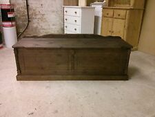 PINE FURNITURE BUCKINGHAM 5FT EXTRA LARGE DARK OAK WAXED OTTOMAN BOX NO FLATPACK
