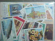 60 DIFFERENT NICARAGUA STAMP COLLECTION - LOT