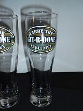 GIT-R-DONE LARRY THE CABLE GUY 16 OZ CAMO BEER GLASSES TALL HEAVY