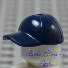 NEW Lego Minifig Dark BLUE BASEBALL CAP Boy Girl Minifigure Sports Hat Head Gear