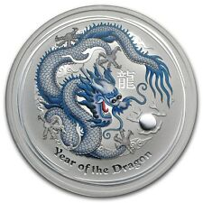 2012 1 oz Silver Australian White Dragon Lunar Coin Direct From Mint Roll