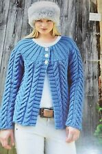 """Hayfield Knitting Pattern 9700 Cabled Cardigan  32-42"""""""