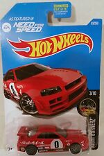 NEW Hot Wheels 2017 Night Burnerz - 3/10 - Nissan Skyline (R34) -  Red , 83/250