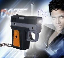 3D Creative Gun Light Up LED Torch With sound Keyrings KeyChain TOYS UKYS116