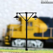 5 x HO / OO Scale Model Train Street Lights Railroad Lamp posts Led Lamps #L610