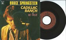 """BRUCE SPRINGSTEEN cadillac ranch (PS & brown plastic label) VG+/VG+  french 7"""""""