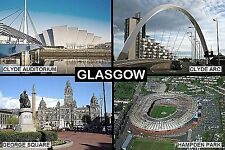 SOUVENIR FRIDGE MAGNET of GLASGOW SCOTLAND