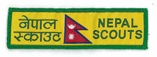 SCOUTS OF NEPAL - NEPALESE BOY & GIRL SCOUT NATIONAL FLAG STRIP PATCH