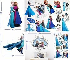 Disney Frozen Characters Wall Decals stickers -5 Sheets ofor Kids Room