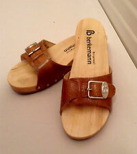 Berkemann Exercise Sandals in Tan Calf Leather Made in Germany size 37