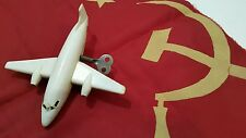 VINTAGE JET 70's WIND UP TOY RUSSIAN TU TUPOLEV AIRLINE AIRPLANE CCCP