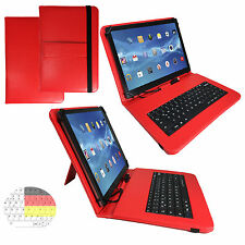7 zoll Qwertz Tablet Tasche -  blackberry playbook Hülle Etui - Tastatur Rot 7