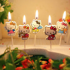 Hello Kitty Birthday Cake / Cupcake Candles Party Toppers 5pcs/set