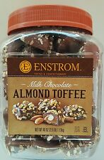 40 oz ENSTROM Milk Chocolate Almond Toffee, Gluten Free, USA