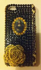 NEW iPhone 5 & 5s Case/Cover, 3D Mona Lisa Icon, Leopard Print Flower,Black Gems