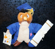 "12"" WINNIE THE POOH GRADUATION OWL PLUSH Disney Store College High School Gift"