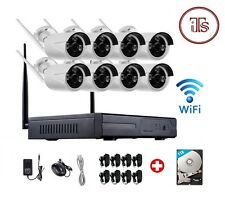 Wireless 8Ch WiFi NVR Wifi 8 Outdoor Camera Kit