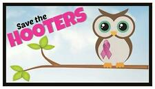 Fridge Magnet: SAVE THE HOOTERS (Breast Cancer Awareness / Endangered Owls)