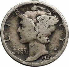 Mercury Winged Liberty Head 1926 Dime United States Silver Coin Fasces i43080