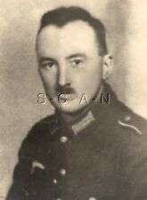 WWII German Army Large RP- Soldier- Uniform- Eagle- Named- Portrait- 1930s-40s