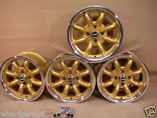 CAPRI ESCORT CORTINA FORD 7X15 DEEP DISH ALLOY WHEEL SET JBW MINILIGHT STYLE.