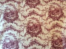 "Waverly La Petite Ferme Fabric Country Chic Rooster Farm Toile 56"" Wide X 72"" 2Y"
