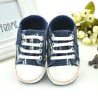 Infant Toddler Baby Boy Girl Soft Sole Crib Shoes Sneaker Canvas 0-18 Months New