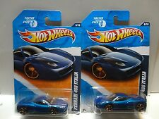 2011 Hot Wheels #146 Blue Ferrari 458 Italia Left & Right Facing