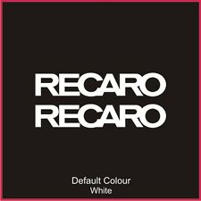 Recaro Decals x2, Vinyl, Sticker, Graphics,Car, Brakes, Racing, Stack, N2075