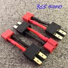 QTY-(3) Male TRX Traxxas to Female Deans Connector Adapter LiPo Slash Revo