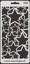 Scrapbooking Schablone S-206  Sterne ~ Stencil ~ UMR-Design