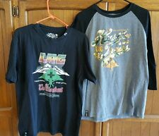 2 LRG Lifted Research Group Official T-Shirts 1-short sleeve,1-3/4 sleeve size L