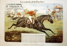 """""""GRAND PRIX DE PARIS 1880"""" Affiche originale entoilée Litho J.A. BREVAL 46x64cm"""