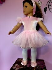"""Prima Ballerina-Ballet Doll Outfit for 18"""" American Girl,Leotard Tights Shoes4pc"""