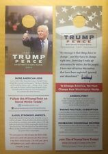 DONALD TRUMP MIKE PENCE Campaign Sign Door Hanger Poster Official Campaign