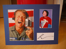 Signed & Mounted Robin Williams Comedy Legend card & photo display - C.O.A.