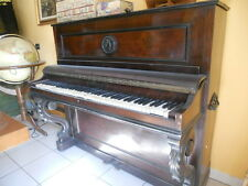 PIANOFORTE FRANCESE MARCA DESCHAUX   VERTICALE D'EPOCA DA RESTAURARE  IN LEGNO
