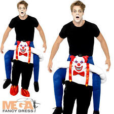 Sinister Clown Piggy Back Adults Halloween Fancy Dress Circus Carry Me Costume