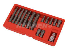 "NEILSEN RIBE BIT SOCKET SET 1/2"" DRIVE 15 PIECE LONG SHORT like POLYDRIVE"
