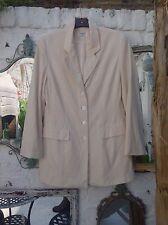 Chaqueta para mujer Talla 12 KALIKO Diseñador Clásico Atemporal Marfil Seda Blazer Forrado