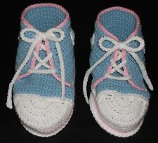 ADULT BABY BOOTIES HAND CROCHET ONE SIZE FITS ALL BABIES FIRST SNEAKERS