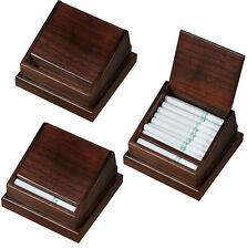 Visol Walnut Wooden Desktop Cigarettes Holder, Holds 18 Regular Sized Cigarettes